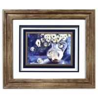 Prinz Flowers 14-Inch x 12-Inch Framed Shadow Box Art in Purple