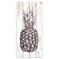 Prinz Pineapple 6.5-Inch x 14-Inch Framed Wood Art in White