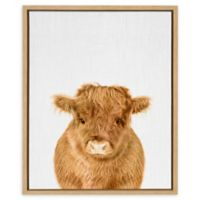 Kate and Laurel Silvie Calf 4 18-Inch x 24-Inch Framed Canvas in Natural