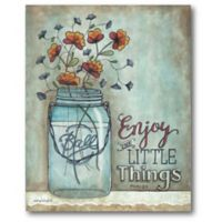Courtside Market™ Enjoy The Little Things 16-Inch x 1.5-Inch Framed Wrapped Canvas