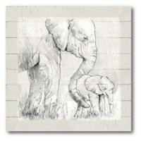 Courtside Market™ Mama Elephant 16-Inch Square Framed Canvas Wall Art