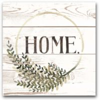 Courtside Market™ Farmhouse Home Sign I 16-Inch x 1.5-Inch Framed Wrapped Canvas