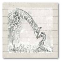 Courtside Market™ Mama Giraffe 16-Inch Square Framed Canvas Wall Art