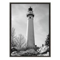 Kate And Laurel® Beachy 23-Inch x 33-Inch Framed Canvas in Gray