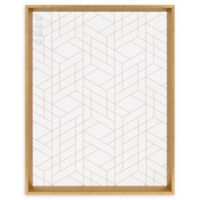Kate and Laurel Calder Geometric 21.5-Inch x 27.5-Inch Framed Magnetic Board in White