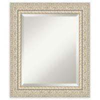Amanti Art Fair Baroque Cream 22-Inch x 26-Inch Framed Bathroom Mirror