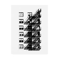 Trademark Fine Art NYC in Pure B&W X 18-Inch x 24-Inch Canvas Wall Art