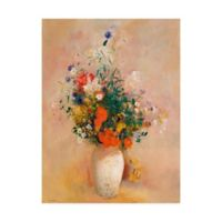 Trademark Fine Art Vase of Flowers 14-Inch x 19-Inch Canvas Wall Art