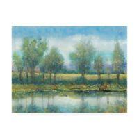 Trademark Fine Art River Reflection 24-Inch x 32-Inch Canvas Wall Art