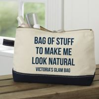 Expressions Personalized Makeup Bag in Navy