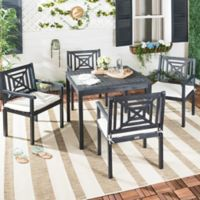 Safavieh Del Mar 5-Piece Outdoor Dining Set in Slate Grey
