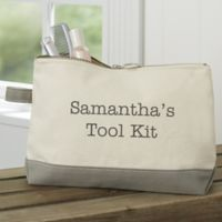 Expressions Personalized Makeup Bag in Grey