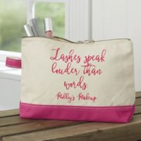 Expressions Personalized Makeup Bag in Pink