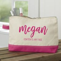 Scripty Name Personalized Makeup Bag in Pink