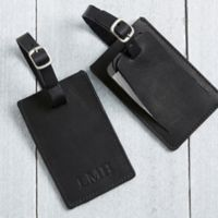 First Class Debossed Personalized Luggage Tag