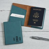 Personalized Leatherette Passport Holder