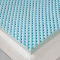 Sleep Philosophy Flexapedic 3-Inch Full Gel Foam Topper in Blue