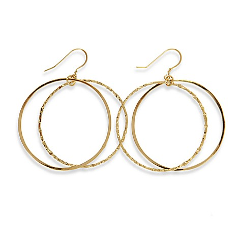 Charlene K 14K Gold Vermeil 1 1/2-Inch Double Hoop Earrings