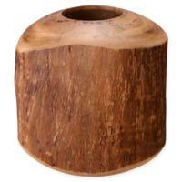 Villacera 8-Inch Mango Wood Barrel Vase in Natural