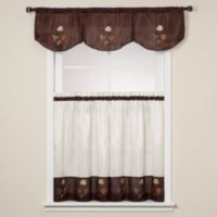 Rose 36-Inch Window Curtain Tiers in Chocolate