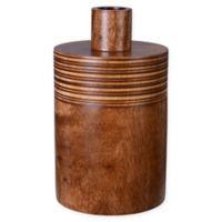 Villacera Brown Mango Wood Oval Jar with Lid