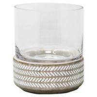 Sagebrook Home Glass Hurricane Candle Holder in Beige/White