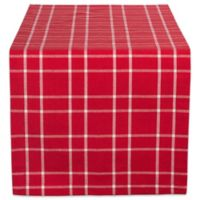 Design Imports Holly Berry Plaid 72-Inch Table Runner