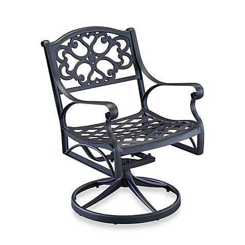 Home Styles Biscayne Swivel Dining Chair - Black