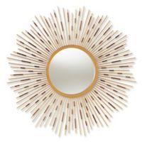 Baxton Studio 36-Inch Round Elliot Wall Mirror in Gold