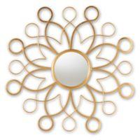 Baxton Studio Charlton Round Accent Mirror in Gold