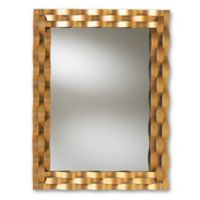 Baxton Studio 31.8-Inch x 42-Inch Florian Wall Mirror in Gold