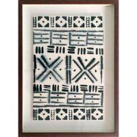 Ink Shibori 17-Inch x 23-Inch Framed Wall Art