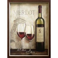 Wine in Paris 19-Inch x 25-Inch Framed Wall Art