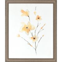 Morning Glory Framed Paper Wall Art in Yellow