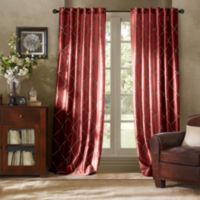Bombay™ Garrison 84-Inch Rod Pocket/Back Tab Window Curtain Panel in Burgundy