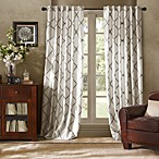 Bombay™ Garrison 84-Inch Rod Pocket/Back Tab Window Curtain Panel in White