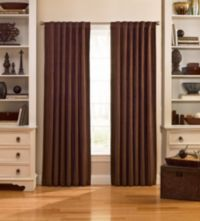 Catania 63-Inch Velvet Back Tab Window Curtain Panel in Espresso