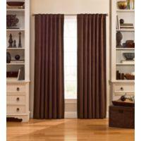 Catania 63-Inch Velvet Back Tab Window Curtain Panel in Espresso