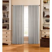 Catania 63-Inch Velvet Back Tab Window Curtain Panel in Silver