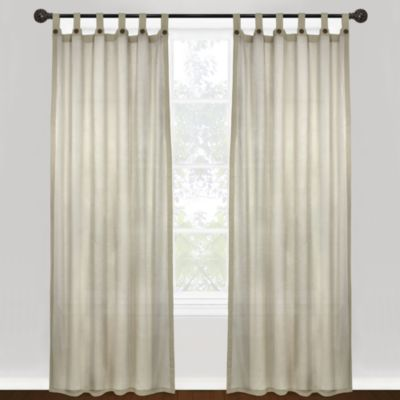 Park B. Smith Vintage House Eco Leno 84 Inch Tab Top Window Curtain Panel