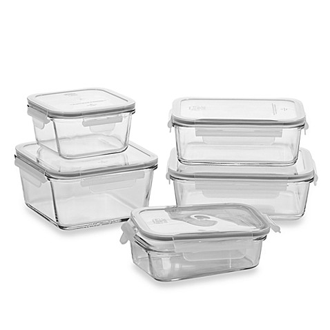 Store Nu0027 Lock 10 Piece Glass Food Storage Set