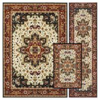 Alexandria Zeigler 3-Piece Woven Rug Set in Black