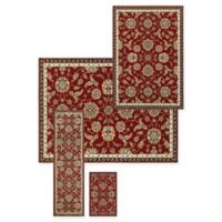 Alexandria Zeigler 4-Piece Woven Rug Set in Red