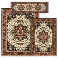 Alexandria Heriz 3-Piece Woven Rug Set in Black