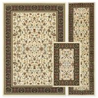 Alexandria Agra 3-Piece Woven Rug Set in Ivory