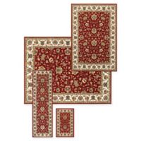 Alexandria Tabiz 4-Piece Woven Rug Set in Red