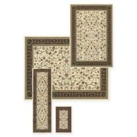 Alexandria Agra 4-Piece Woven Rug Set in Ivory