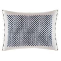 Vera Wang™ Shibori Embroidered Oblong Throw Pillow in White