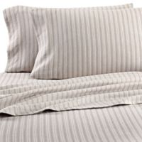 Dormisette Cotton Linen King Pillowcases In Stripe Set Of 2