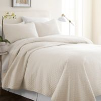 Hc Herring 100% Micro Fiber 3 Piece Quilt Set in Ivory